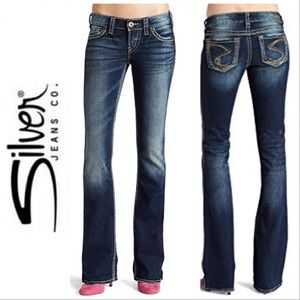 """Silver Frances 18"""" Bootcut Distressed Jeans 32"""